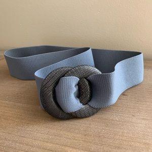 🌸 Vintage gray elastic waist wide belt